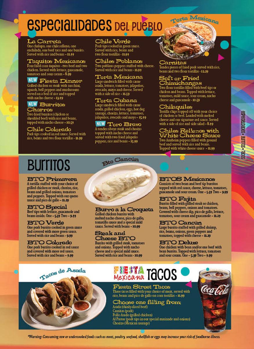 Specials Burritos & Tacos