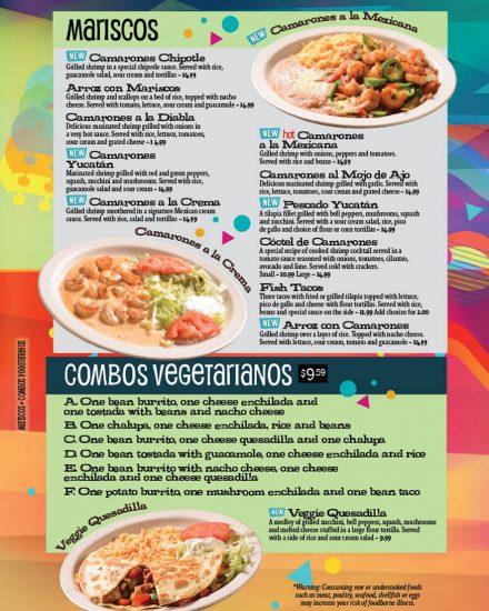 Seafood & Vegetarian